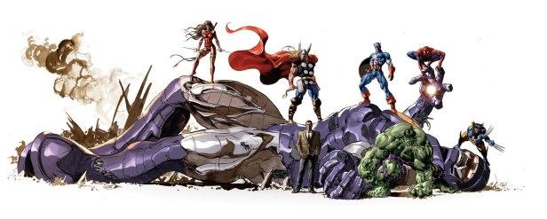 "Capa de ""The Marvel Art of Mike Deodato"""