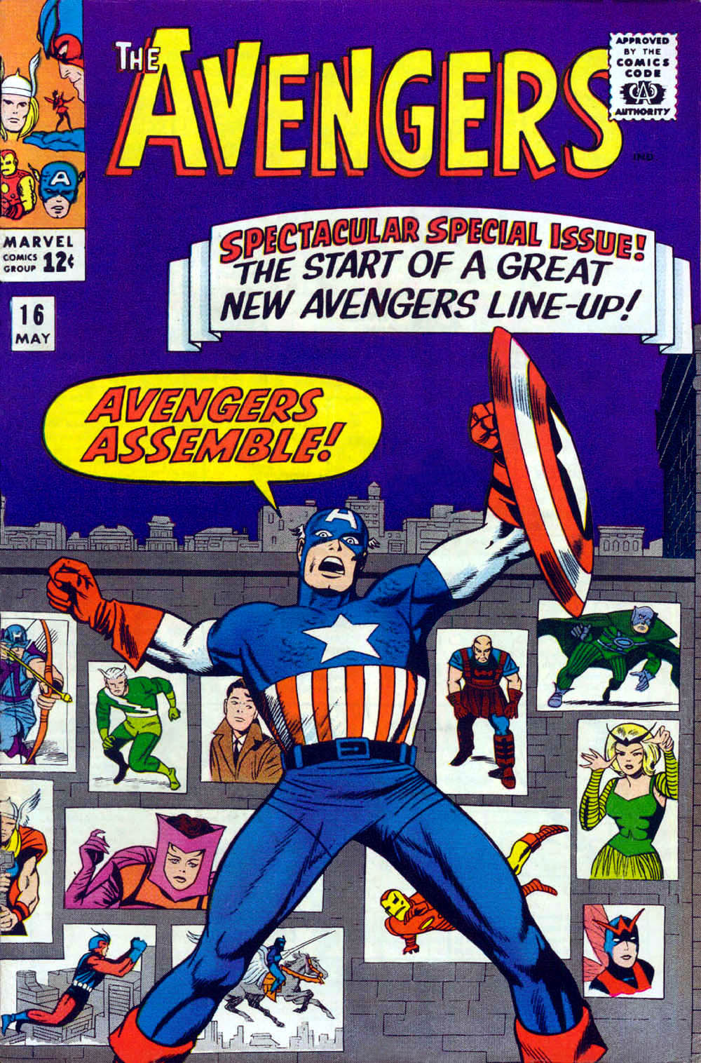 avengers 16 cover by jack kirby