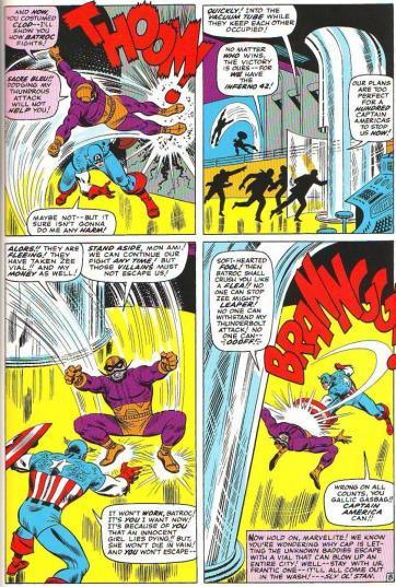 Capitão versus Baltroc na arte de John Romita.