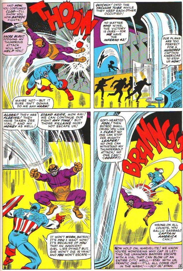cap vs baltroc by john romita tales of suspense 76