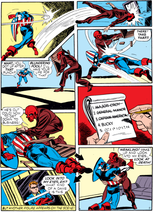 cap vs red skull by jack kirby issue 01 1941