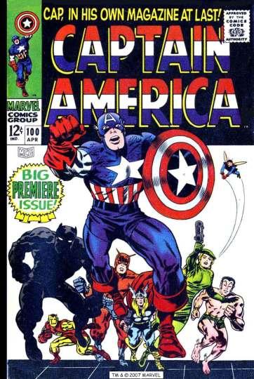 Tales of suspense se torna Captain America, em 1968: ampliação da linha editorial da Marvel.
