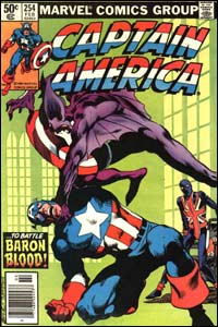 captain america 254 cover by john byrne