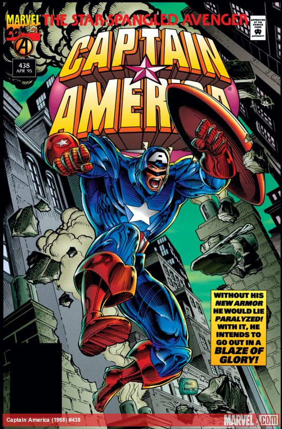 captain america 438 cover 1995