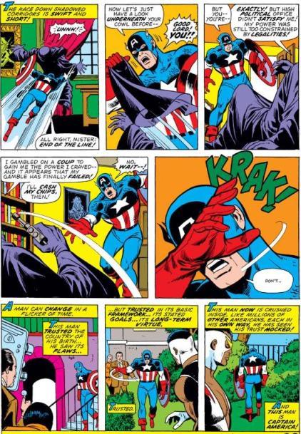 O Confronto com o Número 1 do Império Secreto, por Englehart e Buscema.