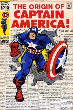 A origem do Capitão América por Lee e Kirby.