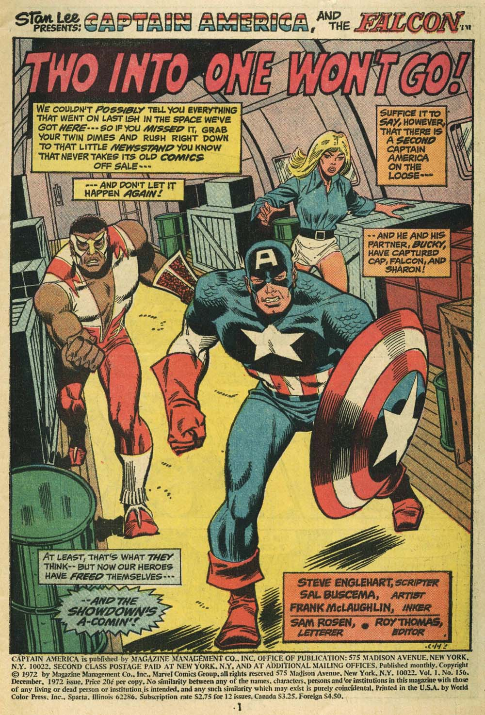 Captain_America156_01 by sal buscema