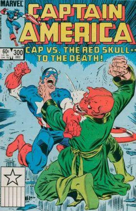Capa de Captain America 300, que encerra a fase dark e polêmica de DeMatteis.