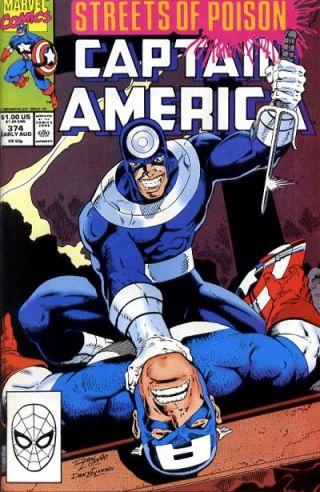 Capitão América contra o Mercenário.