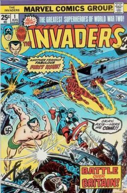 Os Invasores ganham suas próprias aventuras. Arte de John Romita.