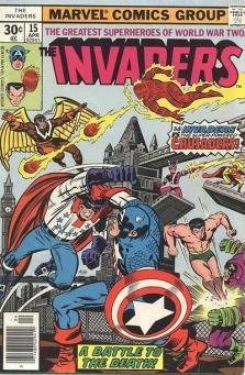 O Independente combate o Capitão América. Arte de Jack Kirby.