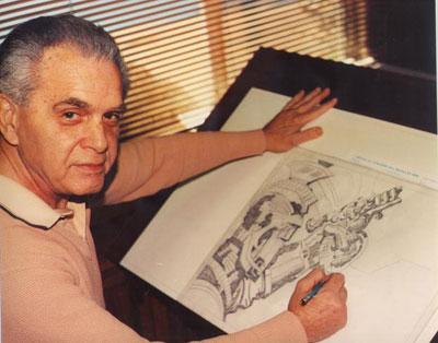 Jack Kirby desenhando