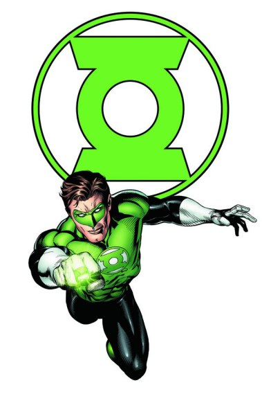 O Lanterna Verde dos quadrinhos: arte do brasileiro Ivan Reis.
