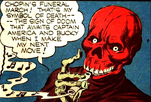 red skull play the flute