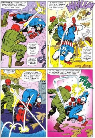 red skull vs captain america by jack kirby tales of suspense 66