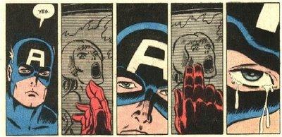 O Capitão assiste à morte de Sharon Carter.