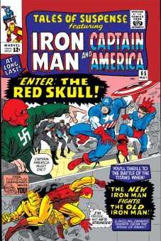 Caveira Vermelha estreia numa típica Tales of Suspense com a capa dividida entre os dois heróis.