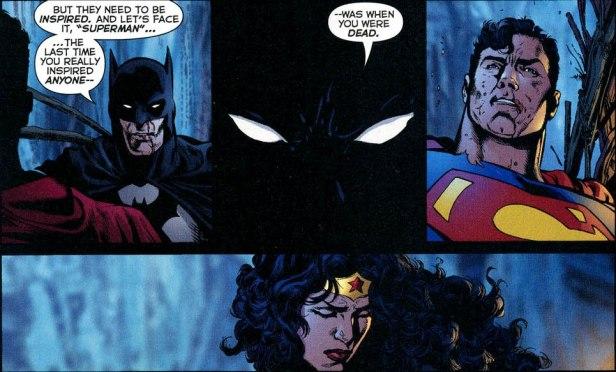 Liga da JUstiça - Crise Infinita - Batman diz que Superman não inspira mais ninguém
