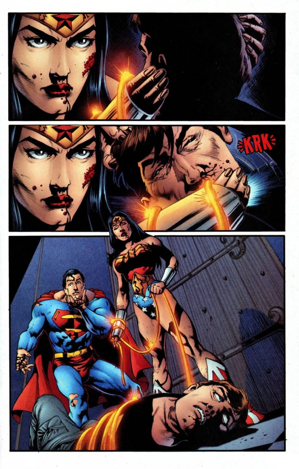 Liga da Justiça - Crise Infinita - contagem regressiva - Wonder Woman v2 219 22 (morte de Maxwell Lord)