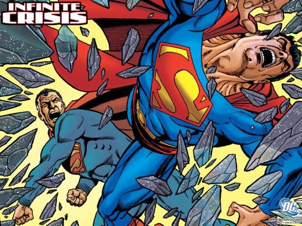 Liga da Justiça - Infinite_Crisis_5 cover by George Perez (superman x superman)