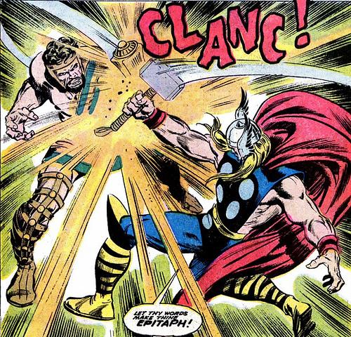 Thor by john buscema (vs hercules)