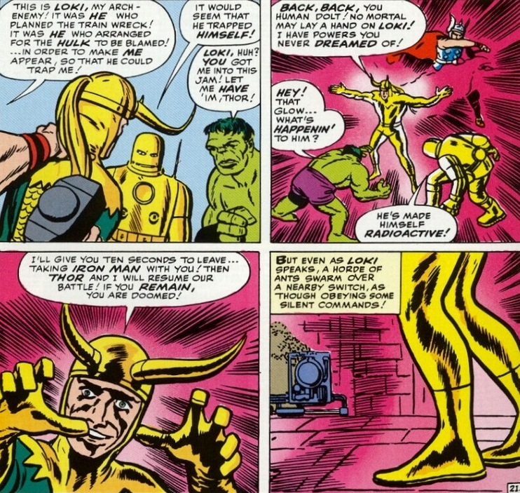 avengers 01 loki battle by lee and kirby