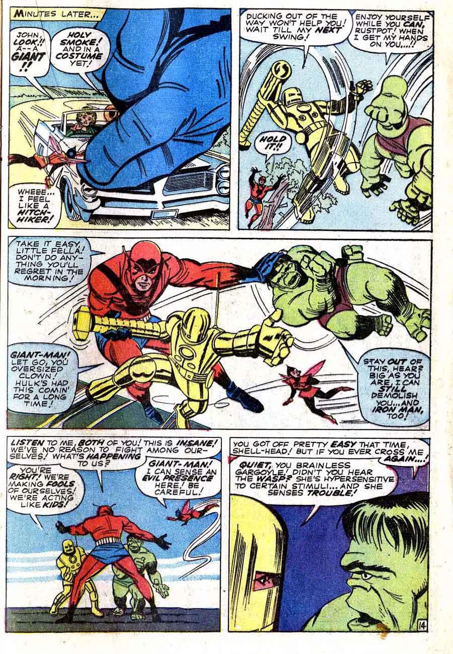Avengers 02 iron man and hulk battle