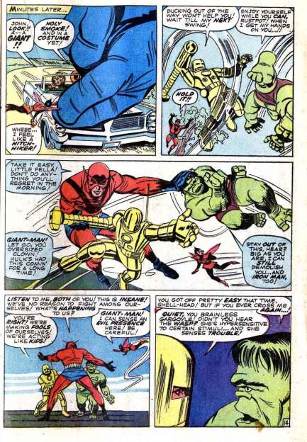 Avengers 02 iron man and hulk battle