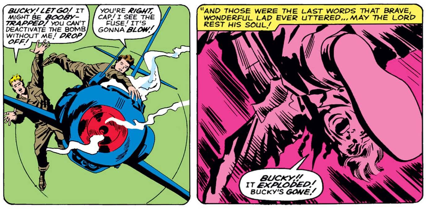 A morte de Bucky em Avengers 04: momento histórico.
