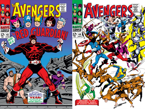 avengers 43-44 covers 1967