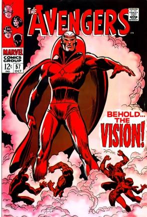 """""""Avengers 57"""" traz a estreia do Visão."""