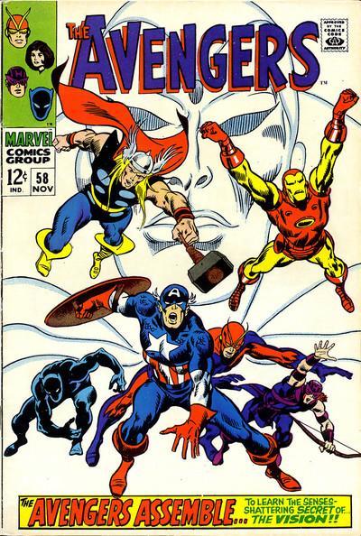 Que desafio resta aos Vingadores em seu quarto filme? Capa de Avengers 58, de 1967, por John Buscema.