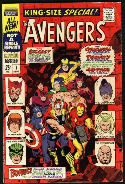 Avengers Annual 01 cover by Don Heck