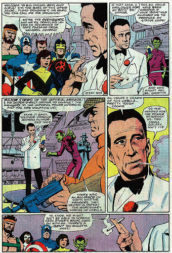 A arte de John Byrne brevemente de volta aos Vingadores.