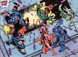 Os Vingadores atacam a nave de Thanos, na arte de Jim Starlin.