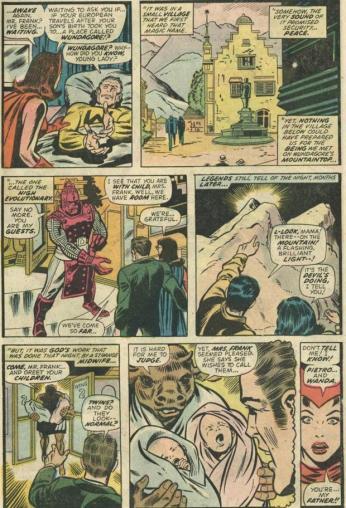 """Feiticeira Escarlate """"descobre"""" quem é seu pai em Giant-Size Avengers 01."""
