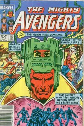 O Visão se torna líder dos Vingadores.