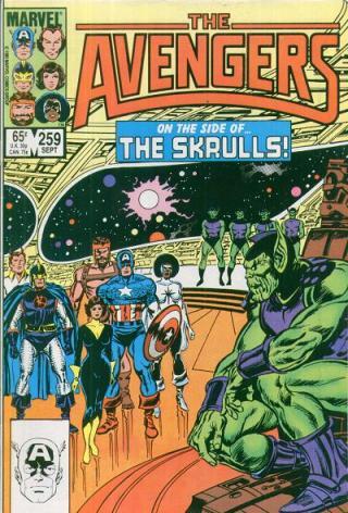 Aliança forçada com os Skrulls. Arte de John Buscema.