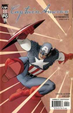 O Capitão América na arte de John Cassaday.