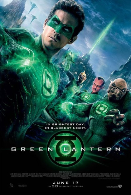 O poster de Lanterna Verde, de 2011: fracasso.