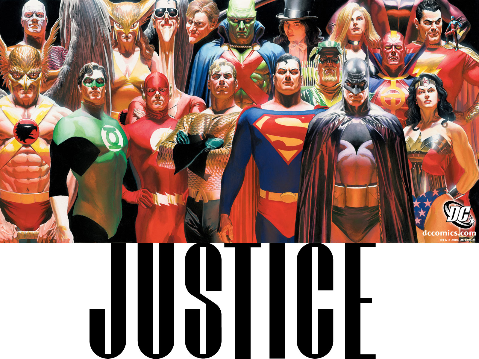 Alex ross justice league think, that