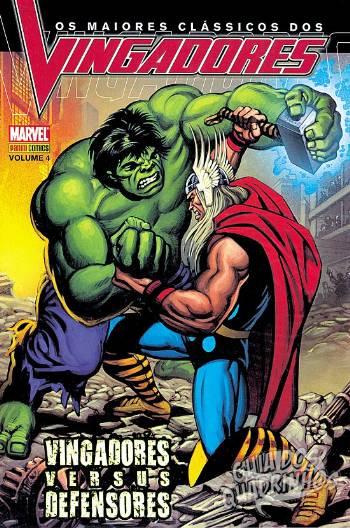 panini clássicos vingadores 4 hulk vs thor