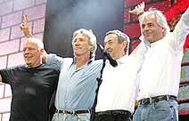 O quarteto clássico reunido pela última vez, em 2005, no Live 8.