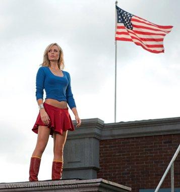 """A Supergirl Laura Vandervoolt em """"Smallville""""."""
