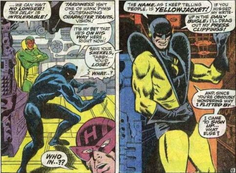 O Jaqueta Amarela tenta entrar para o grupo, mas ele é Hank Pym surtado.