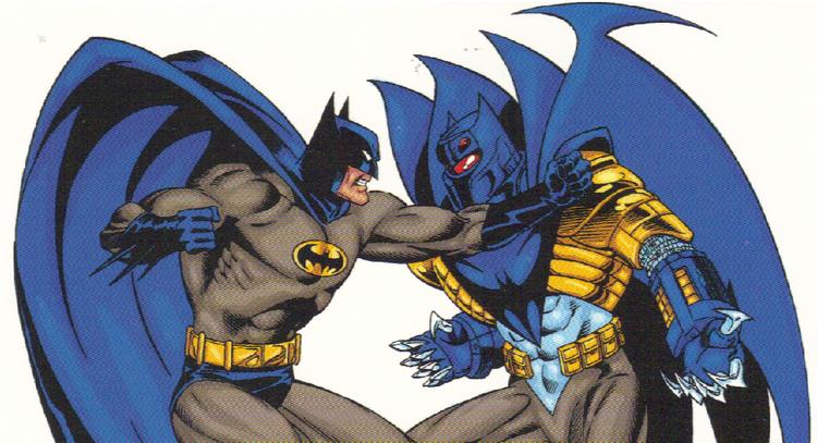 batman vs batman - bruce wayne vs jean paul valley azrael