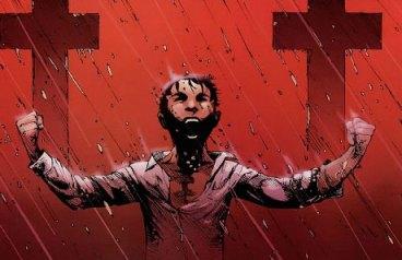 Bruce Wayne criança fazendo seu juramento. Arte de Andy Kubert.