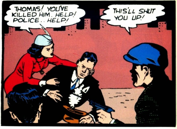bruce wayne's parents death by bob kane