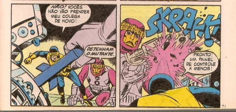 Ciclope enfrenta os Sentinelas por Lee e Kirby.