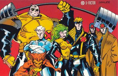 O X-Factor de Peter David e Larry Stroman: Fortão, Mercúrio, Lupina, Polaris, Destrutor e Homem-Múltiplo.